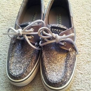 Sperry Pewter Sequin